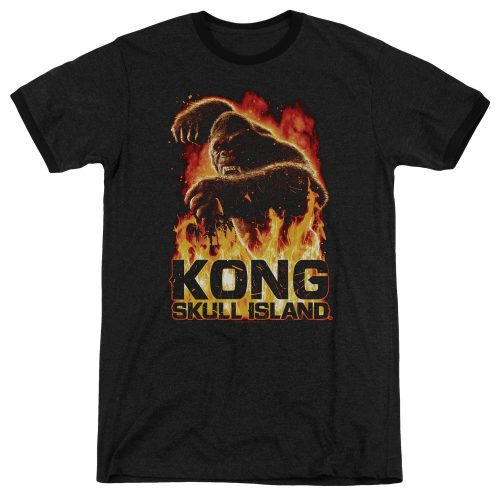 KONG SKULL ISLAND - OUT OF THE FIRE - ADULT RINGER-BLACK