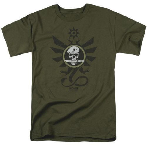 KONG SKULL ISLAND - SKY DEVILS-SS ADULT MILITARY GREEN