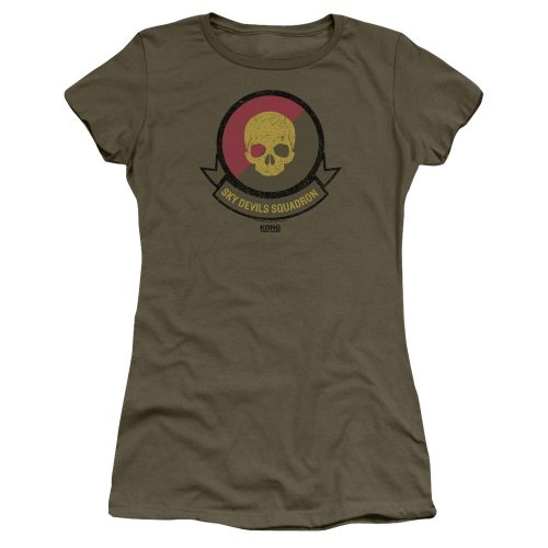 KONG SKULL ISLAND - SQUADRON-SS ADULT MILITARY GREEN