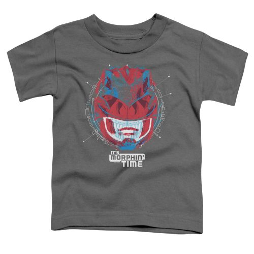POWER RANGERS - ITS MORPHIN TIME-SS TODDLER TEE-CHARCOAL